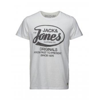 Jack & Jones Mens New Raffa Classic T Shirt White