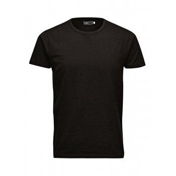 Jack & Jones Mens Plain Classic Crew Neck T-Shirts Regular Fit Black