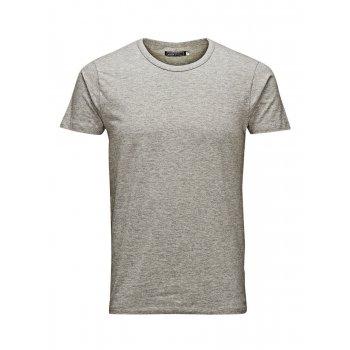 Jack & Jones Mens Plain Classic Crew Neck T-Shirts Regular Fit Grey