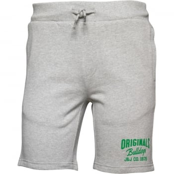 Jack & Jones Mens Ronnie Sweat Shorts Light Grey Melange