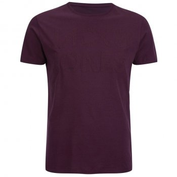 Jack & Jones Mens Rupert Embossed Casual Designer T Shirt Fig