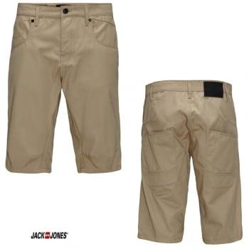 Jack & Jones Mens Stan Lester Long Chino's Shorts Cornstalk