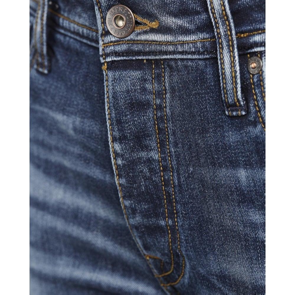 Jack   Jones Mens Tim Original Slim Fit Jeans Blue Used Look 87f983d766