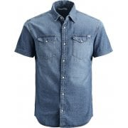 Jack & Jones Mens Vintage New Denim Short Sleeve Shirt Denim Blue