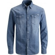 Jack & Jones Mens Vintage New Sheridan Denim Shirt Denim Blue