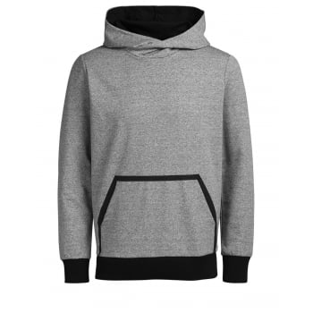 Jack & Jones Mens Wallen Sweat Hood Grey Melange
