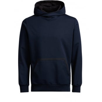 Jack & Jones Mens Wallen Sweat Hood Navy Blazer