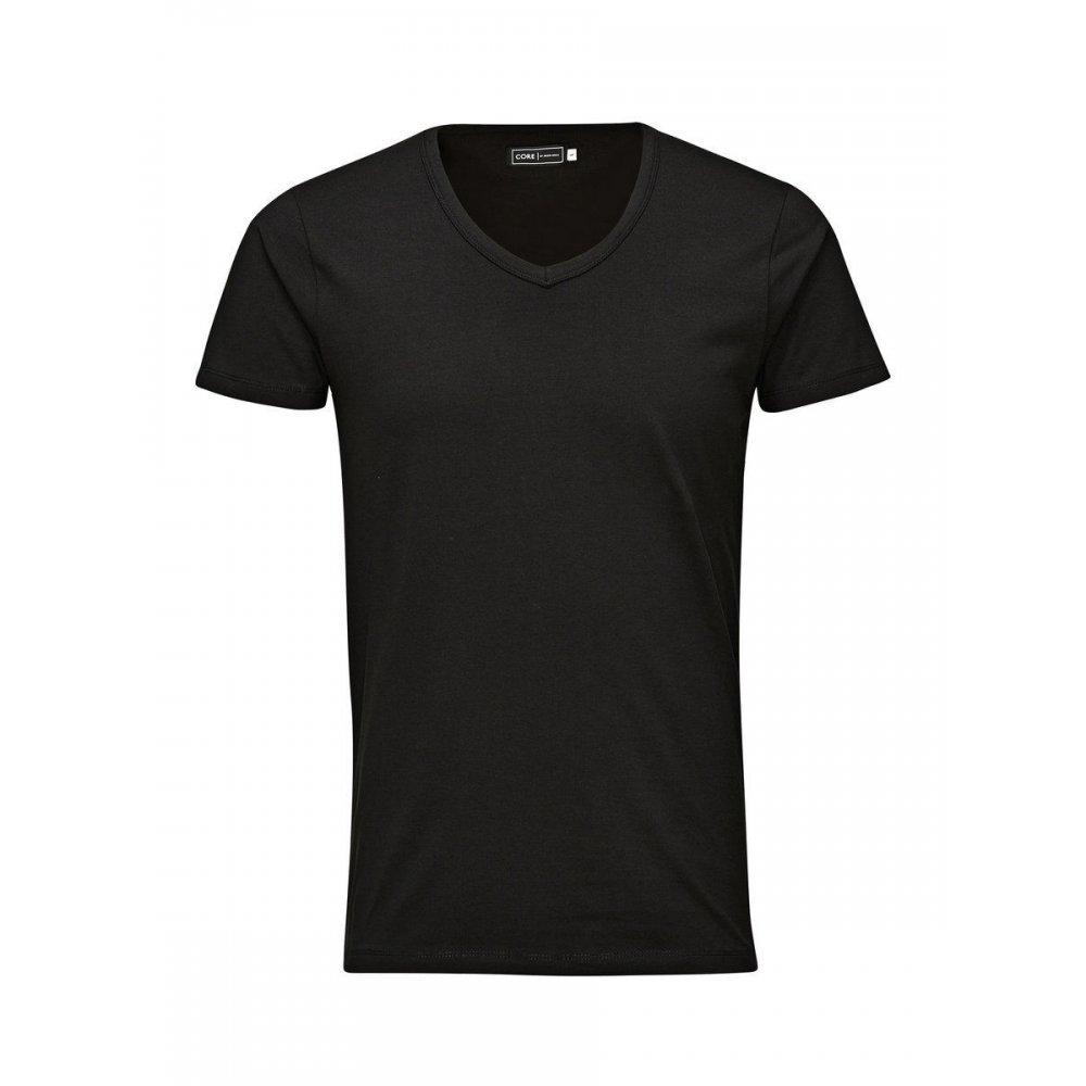 Jack jones v neck quality plain t shirts black for Mens plain v neck t shirts