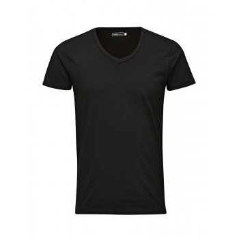 Jack & Jones New Mens V Neck Slim Fit T-shirt Stretchy Plain Lycra Cotton Tee