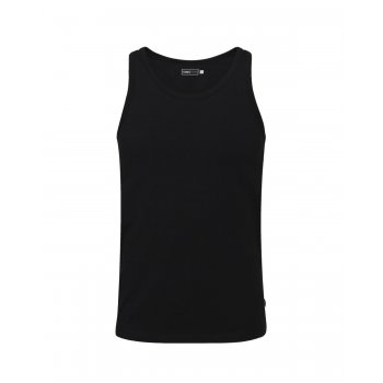 Jack & Jones New Mens Vest Slim Fit T-shirt Stretchy Plain Lycra Cotton Tee Black