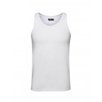 Jack & Jones New Mens Vest Slim Fit T-shirt Stretchy Plain Lycra Cotton Tee White