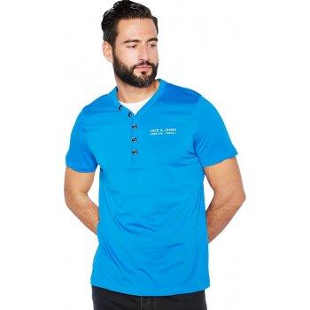 Jack & Jones Paven Split Neck T-Shirt Imperial Blue