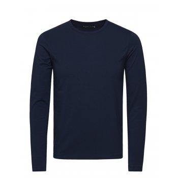 Jack & Jones Premium Plain Long Sleeve T Shirts Navy