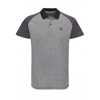 Jack & Jones Sevil Casual Contrast Polo Shirt Black