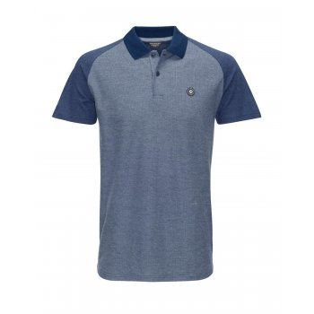 Jack & Jones Sevil Casual Contrast Polo Shirt Navy