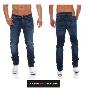 Jack & Jones Tim 012 Original Slim Fit Jeans Dark Used Look