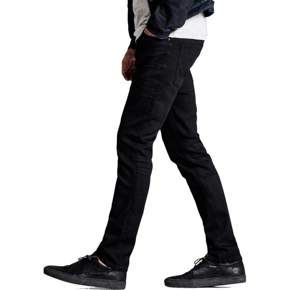 jack jones tim 298 original slim fit jeans jet black denim. Black Bedroom Furniture Sets. Home Design Ideas