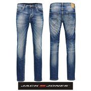 "Jack & Jones Tim 36"" Leg 984 Original Slim Fit Jeans Mid Used Look"