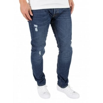 Jack & Jones Tim 419 Original Slim Fit Ripped Jeans Dark Used Look