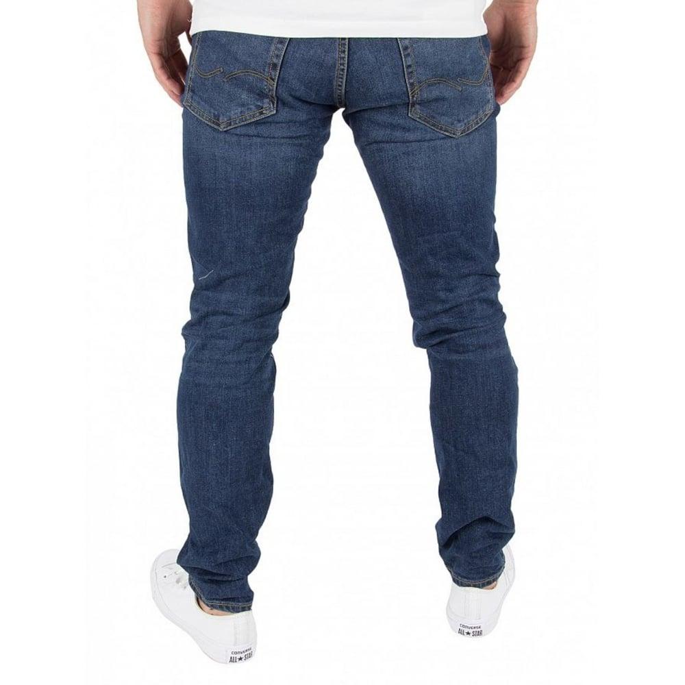 fd698bf8 Jack & Jones Tim 419 Original Slim Fit Ripped Jeans Dark Used Look