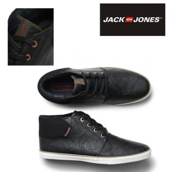 Jack & Jones Vertigo PU Sneakers High Top Core Trainers Pumps Anthracite