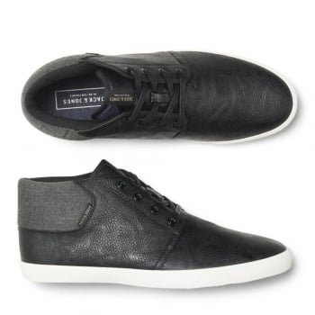 Jack & Jones Vertigo PU Sneakers Mix High Top Core Trainers Pumps Anthracite