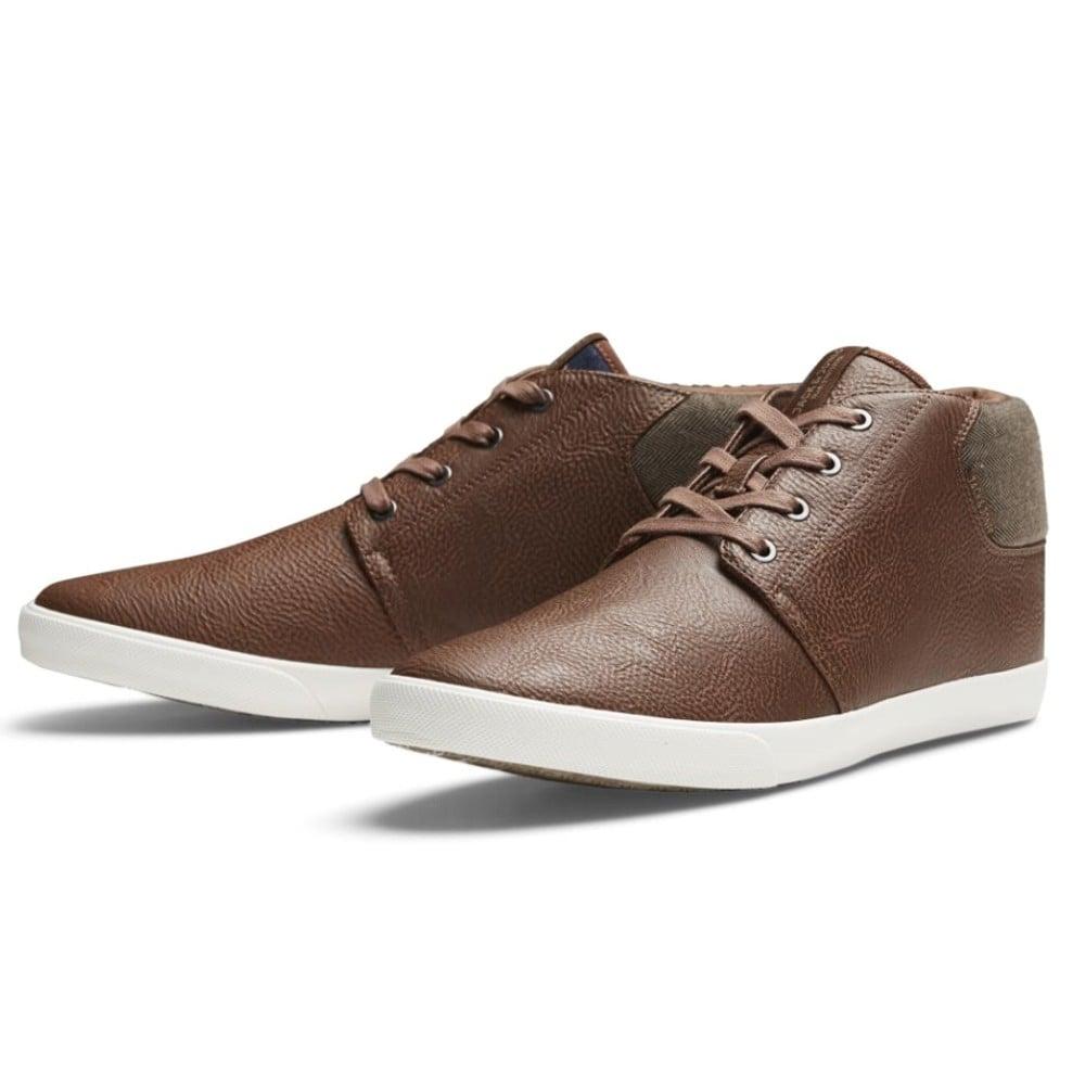 2302a598c25835 Jack   Jones Vertigo PU Sneakers Mix High Top Core Trainers Pumps Cognac