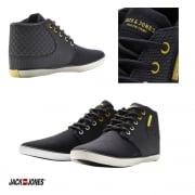Vertu Mixed Sneakers High Top Core Trainers Pumps Black