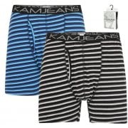 Kam New Mens Kingsize Striped Boxer Shorts XL Underwear 2 Pack