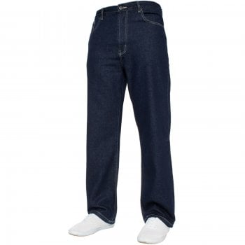 Kam Jeans Mens Forge Jeans Heavy Duty Workwear Basic Straight Regular Fit Indigo Jeans