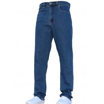 Kam Jeans Mens Forge Jeans Heavy Duty Workwear Basic Straight Regular Fit StoneWash Jeans