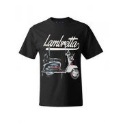 Casual Vintage Retro Mens Scooter T-Shirt Black