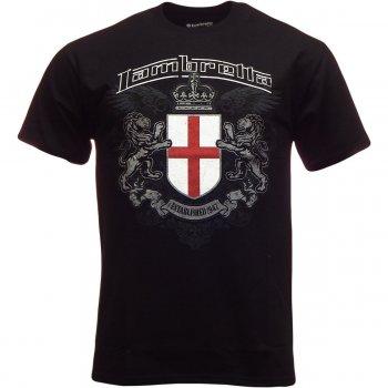 Lambretta Vintage Retro Mens Crest T-Shirt Black
