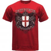 Vintage Retro Mens Crest T-Shirt Red