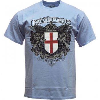 Lambretta Vintage Retro Mens Crest T-Shirt Sky