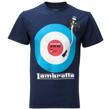 Lambretta Vintage Retro Mens In The Mix Target T-Shirt Navy