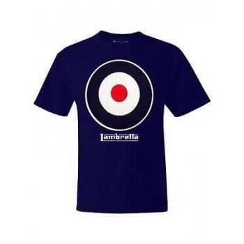 Lambretta Vintage Retro Target T-Shirt Navy