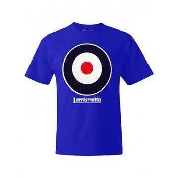 Lambretta Vintage Retro Target T-Shirt Royal Blue