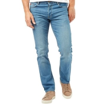 Lee Cooper Mens New Basicon Regular Fit Straight Leg Jeans Light Wash