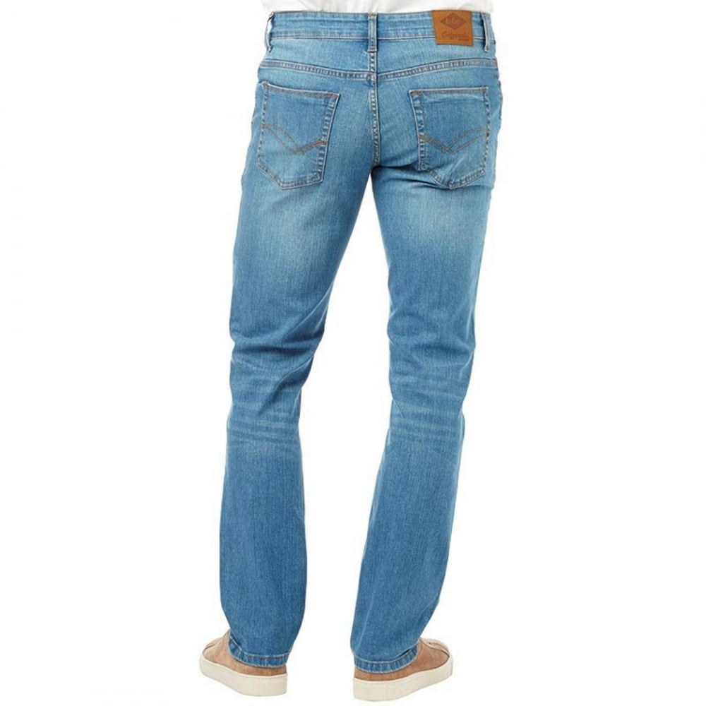 3cdcec1a ... Lee Cooper Mens New Basicon Regular Fit Straight Leg Jeans Light Wash. ‹