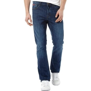Lee Cooper Mens New Basicon Regular Fit Straight Leg Jeans Mid Wash