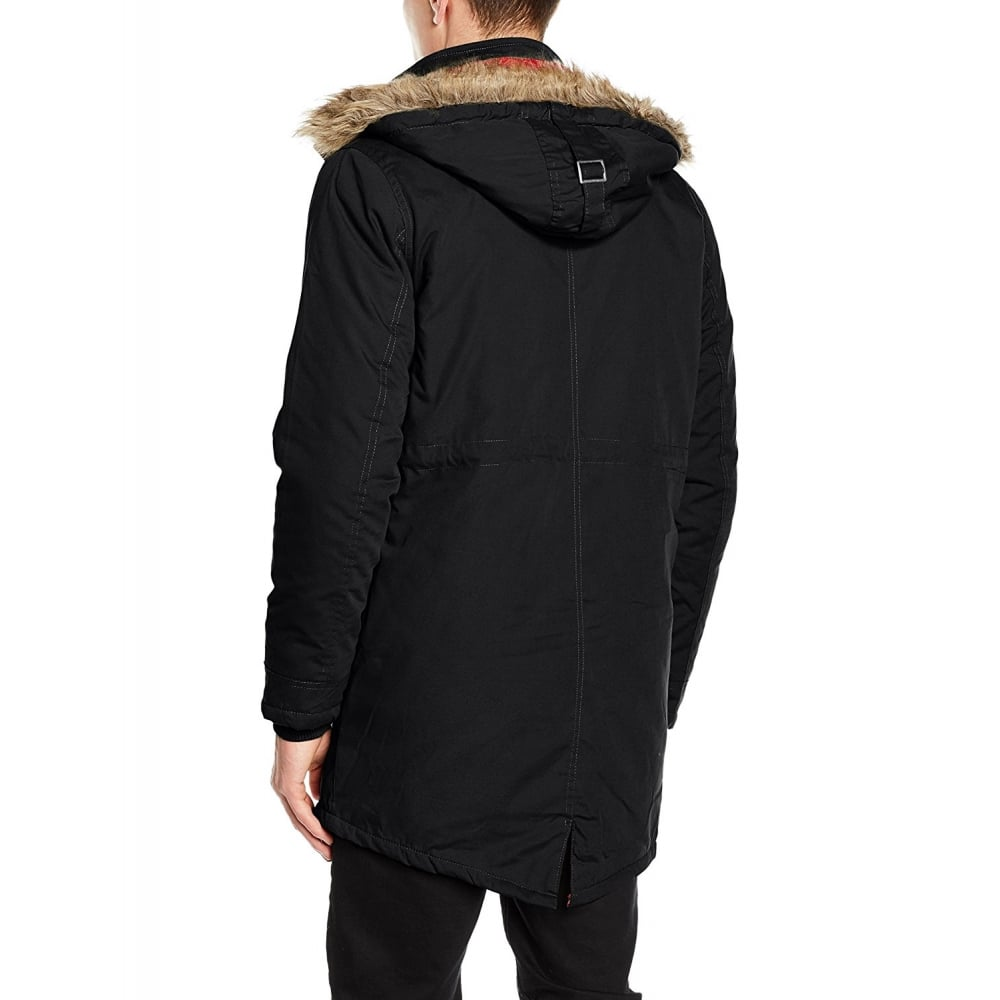 Lee Cooper Mens New Bitton Vintage Mod Fishtail Parka Black