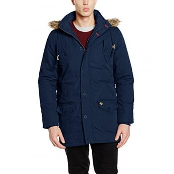 Lee Cooper Mens New Bitton Vintage Mod Fishtail Parka Midnight