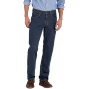 "Brooklyn 36"" Leg Regular Comfort Fit Jeans Dark Stonewash"