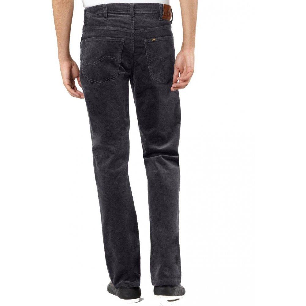 0c06b38bb73b6 ... Lee Jeans Brooklyn Straight Leg Stretch Cords Grey ...