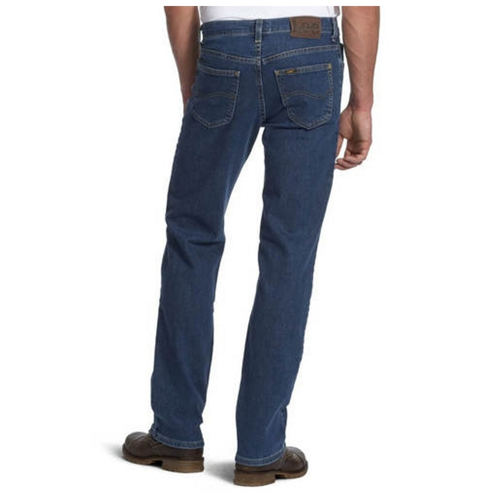 ac992d46 ... Lee Jeans Lee Brooklyn Mens New Regular Comfort Fit Jeans Dark  Stonewash. ‹