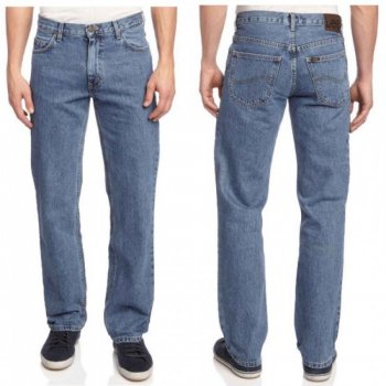 Mens Lee Brooklyn Regular Fit Comfort Leg Zip Fly Stonewash Jeans