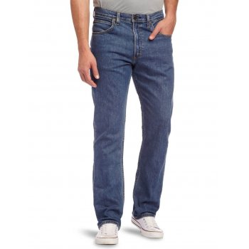 Lee Jeans Lee Brooklyn Stretch Straight Leg Jeans Dark Stonewash
