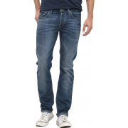 Lee Powell Mens Slim Fit Mid Distressed Jeans Blue Legacy