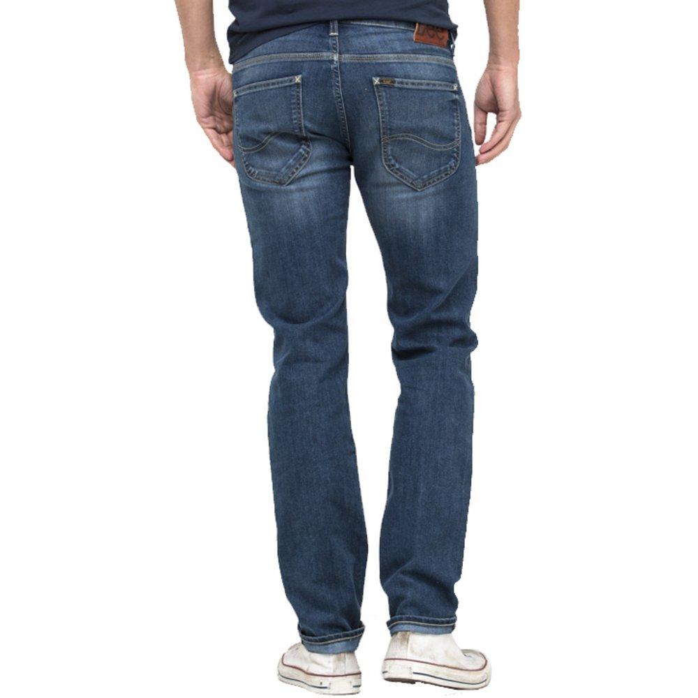 lee powell mens slim fit mid distressed jeans blue legacy